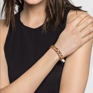 BaubleBar Leather Wrap Cuff